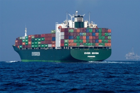 Cargo ships use the most fuel. c.Ever Given_WikiCommons