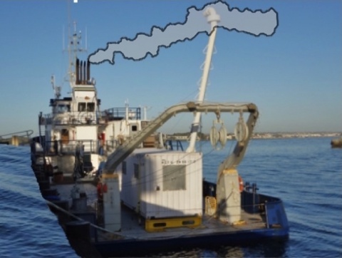 Emissions from the Sprout's stacks are collected by the snorkel. c. www.TideLines.org